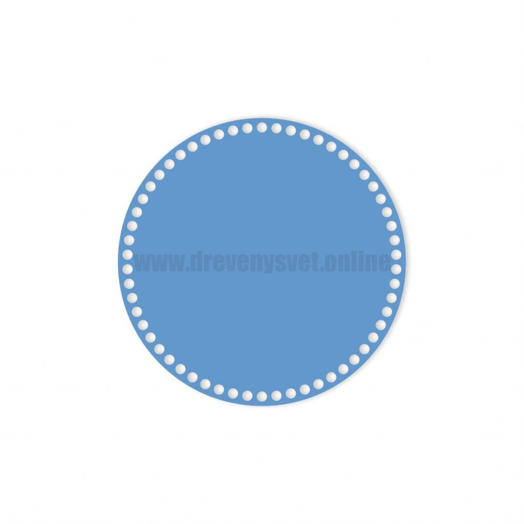 dno kruh 30 cm modrá