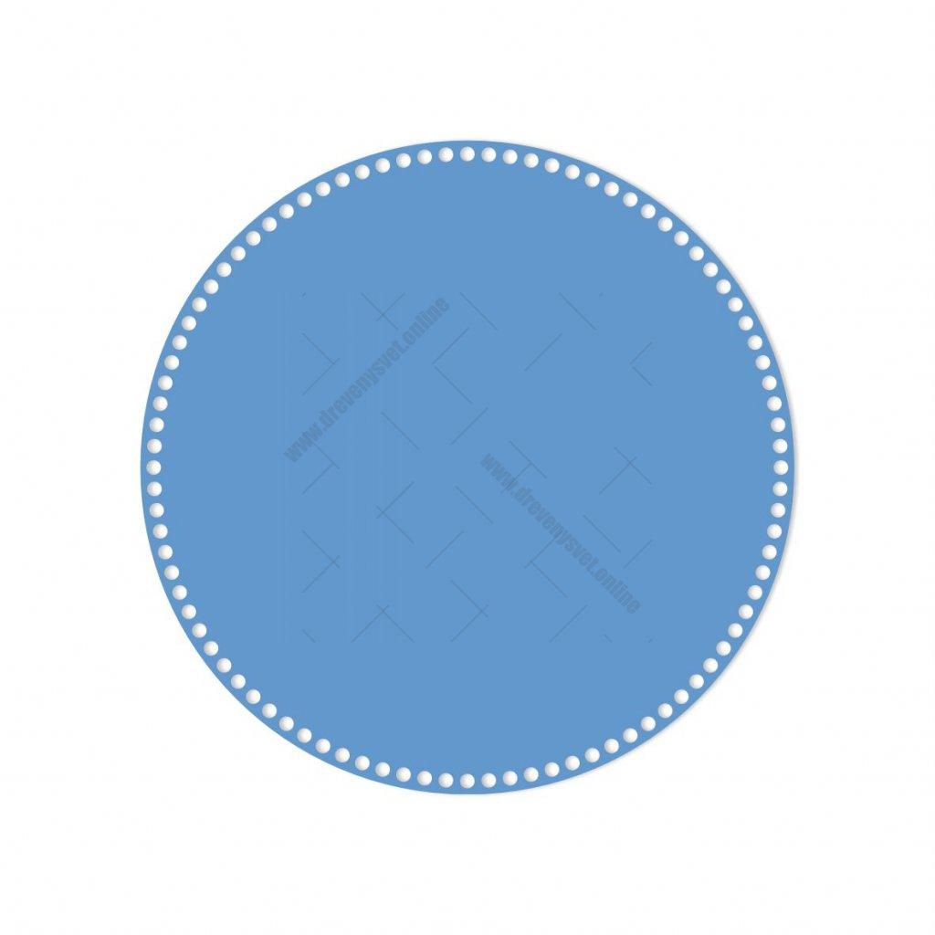 dno kruh 40 cm modrá