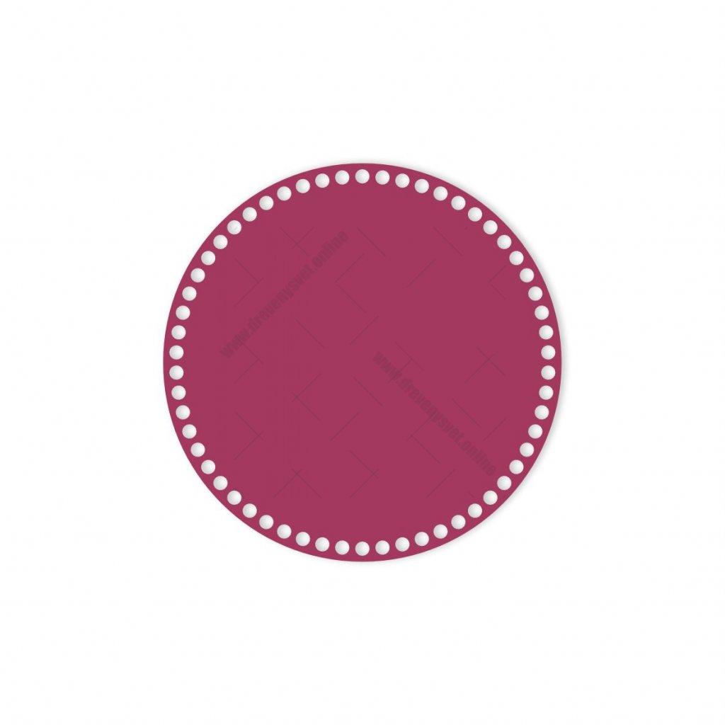 dno kruh 25 cm růžová