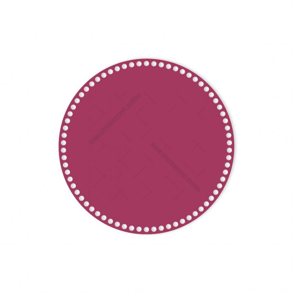 dno kruh 30 cm růžová