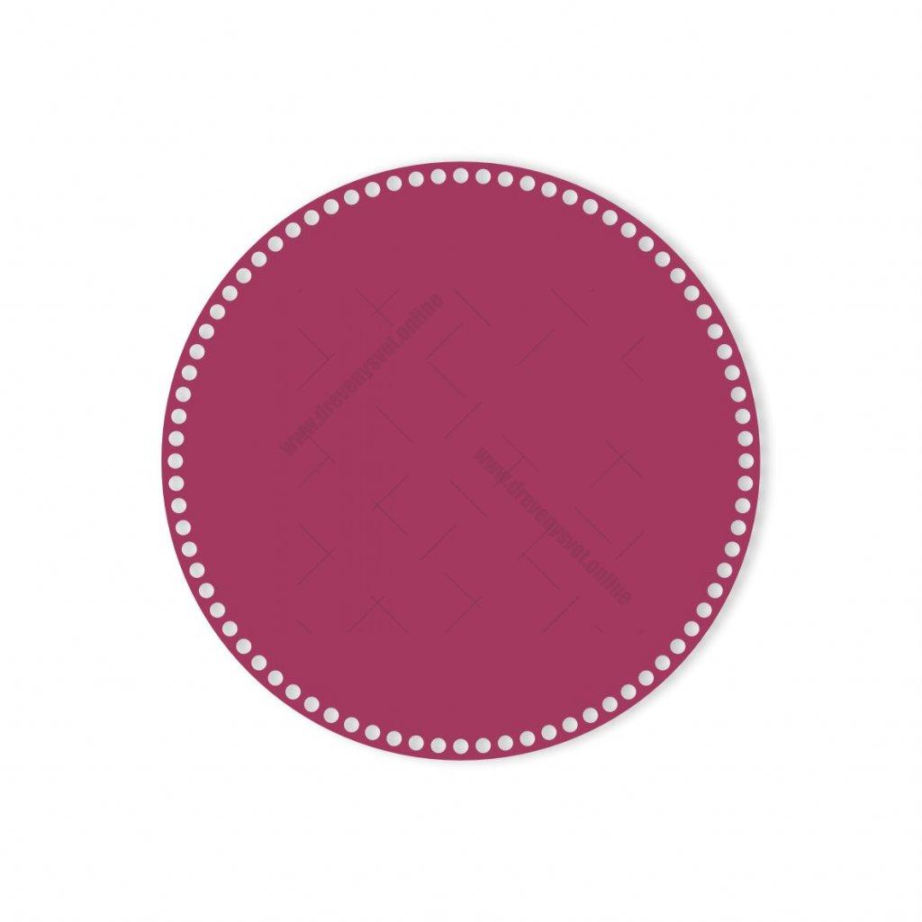 dno kruh 35 cm růžová