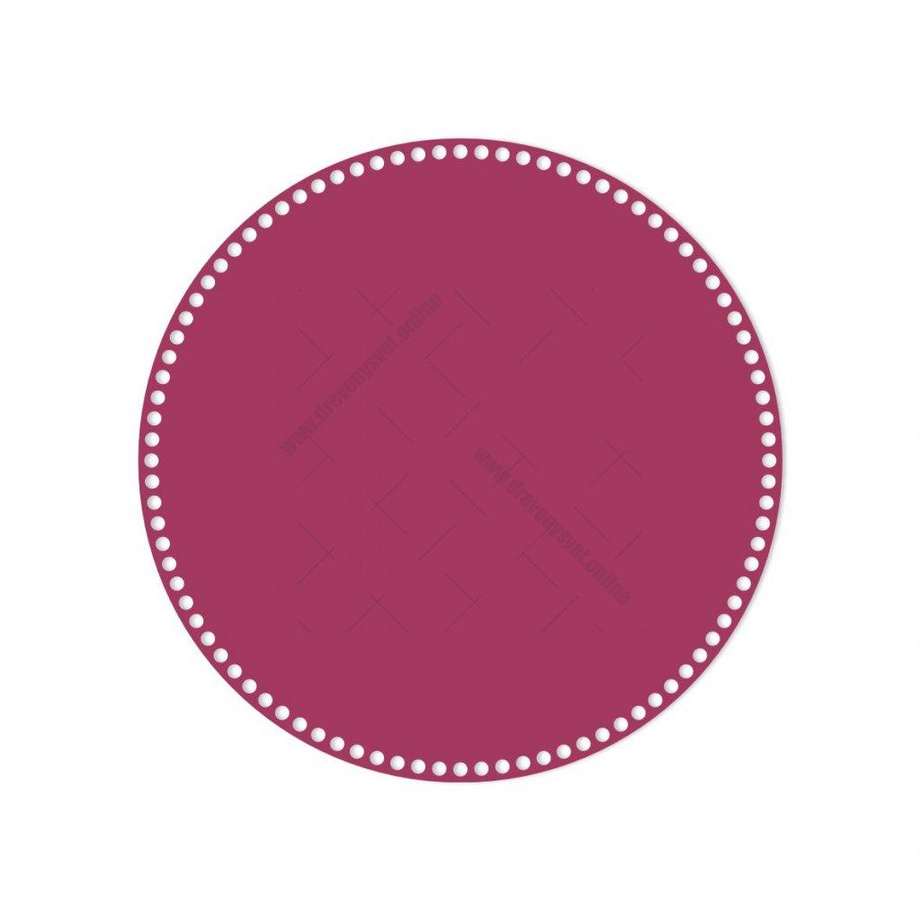 dno kruh 40 cm růžová