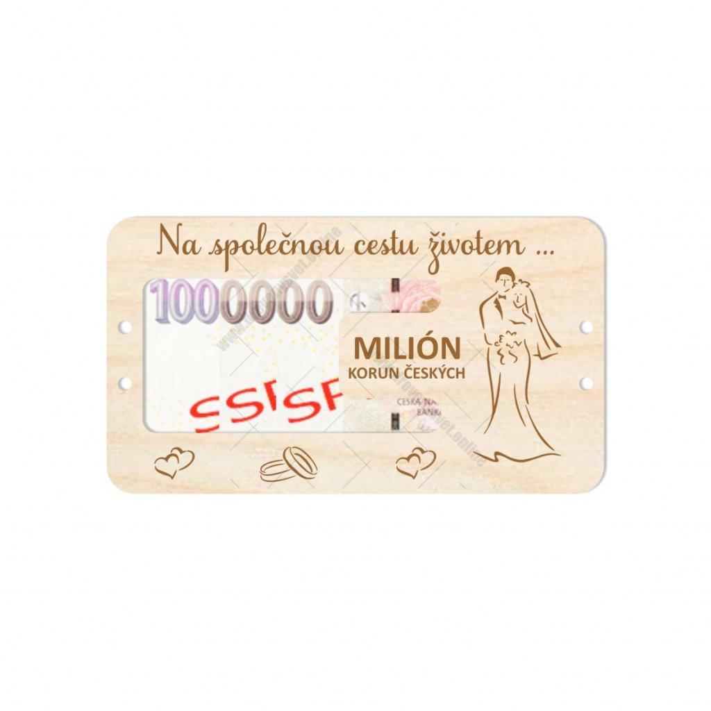 Dárková karta - milión - svatba