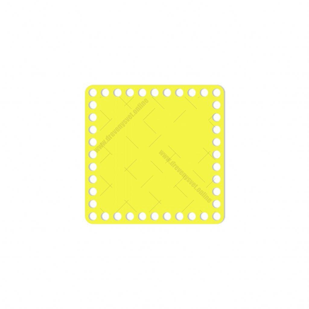 dno čtverec 15 cm žlutá