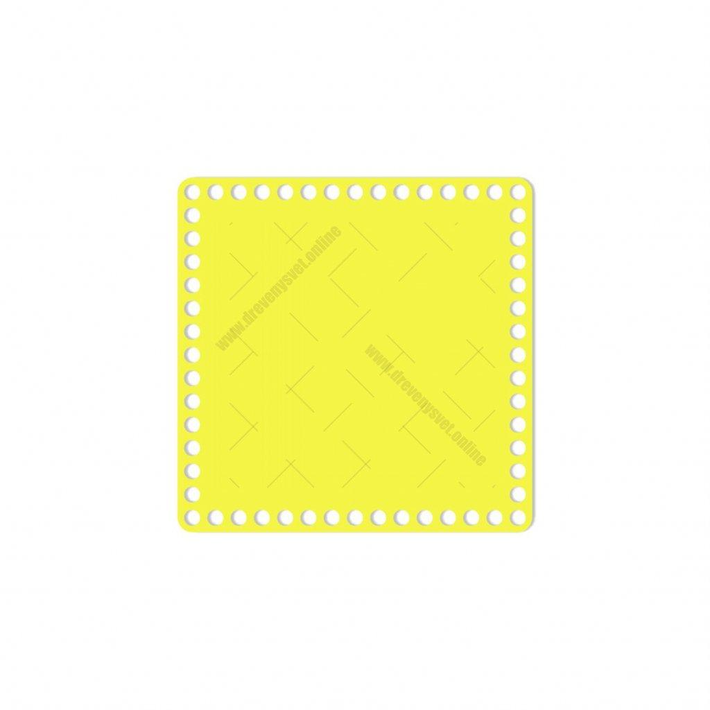 dno čtverec 20 cm žlutá