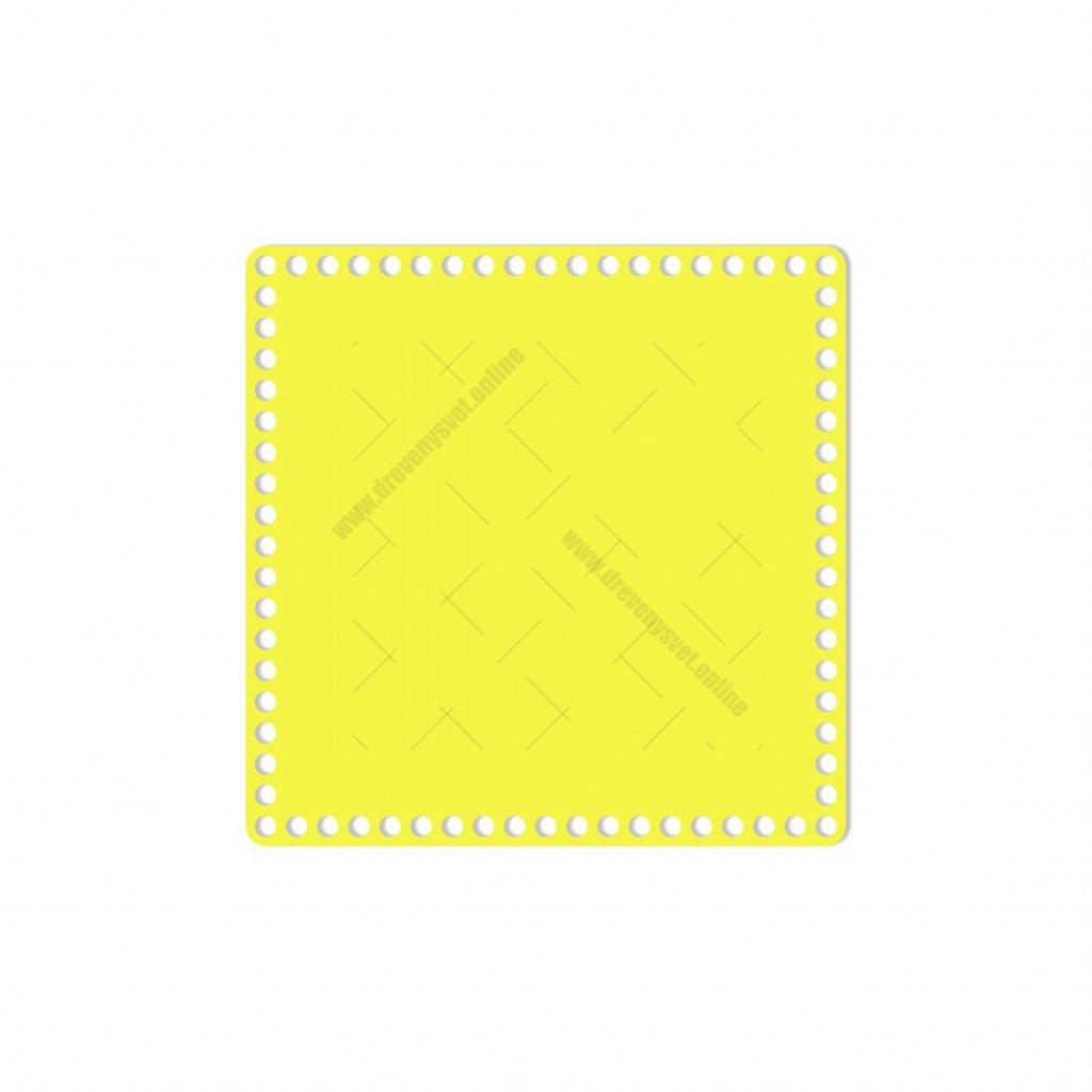 dno čtverec 25 cm žlutá
