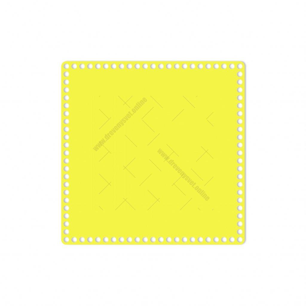dno čtverec 30 cm žlutá
