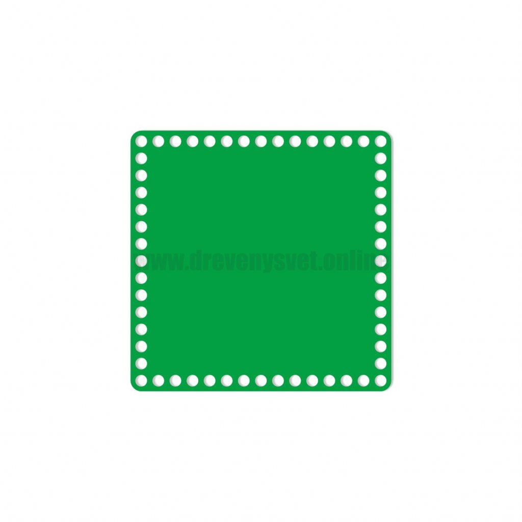 dno čtverec 20 cm zelená