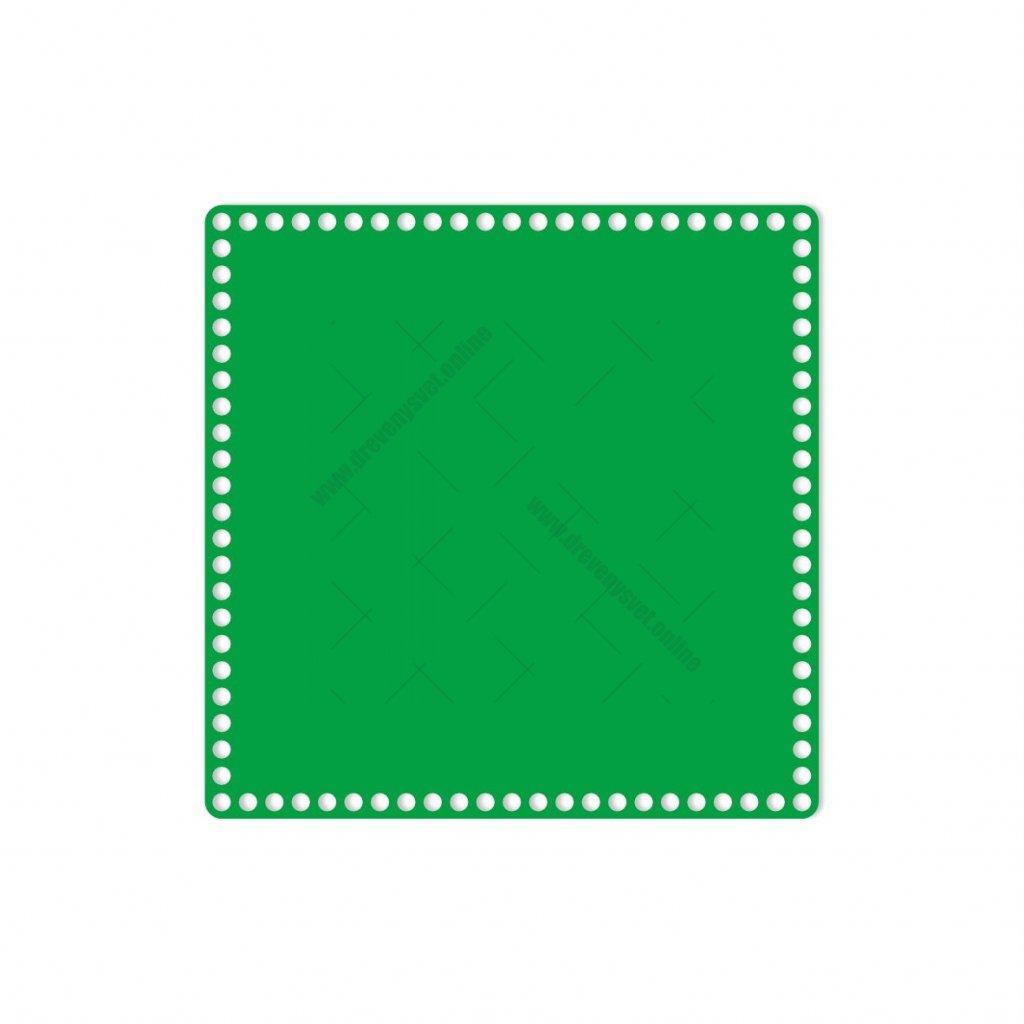 dno čtverec 30 cm zelená