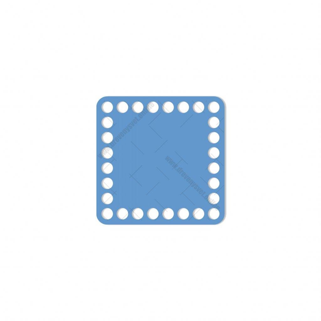 dno čtverec 10 cm modrá