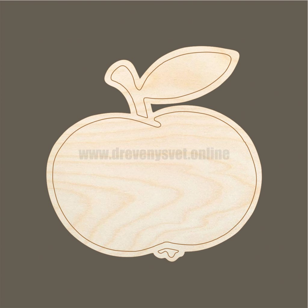 Jablíčko dřevěný výřez