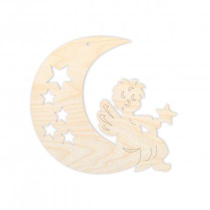 Anděl na měsíčku - ozdoba na vánoční stromek