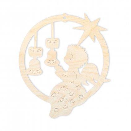 Anděl se zvonky - ozdoba na vánoční stromek