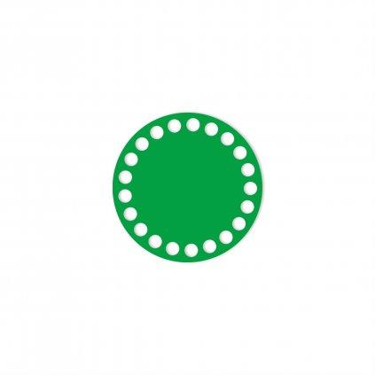 dno kruh 10 cm zelená