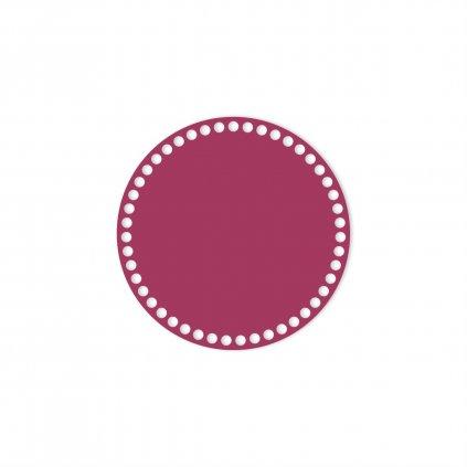 dno kruh 20 cm růžová