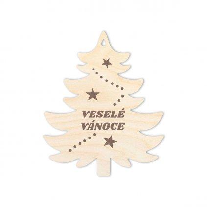 Stromek Veselé vánoce, typ 1
