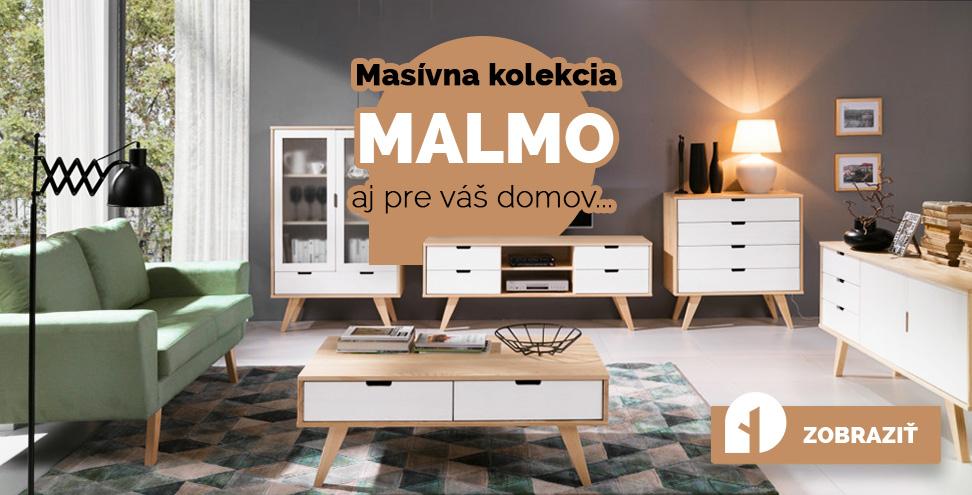 Masívny nábytok kolekcia Malmo