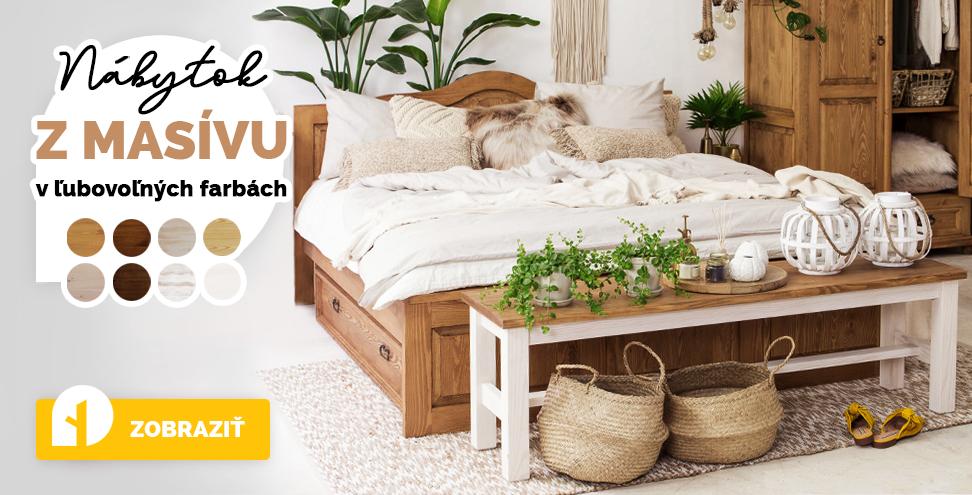 Vyberte si moderný nábytok z masívu.