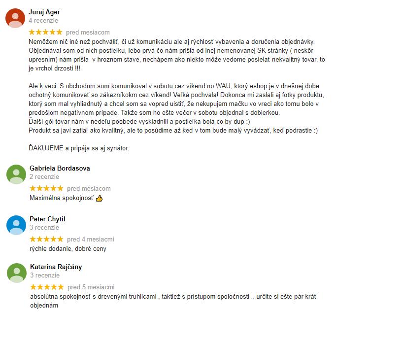 Google hodnotenie a skúsenosti s drevko.sk