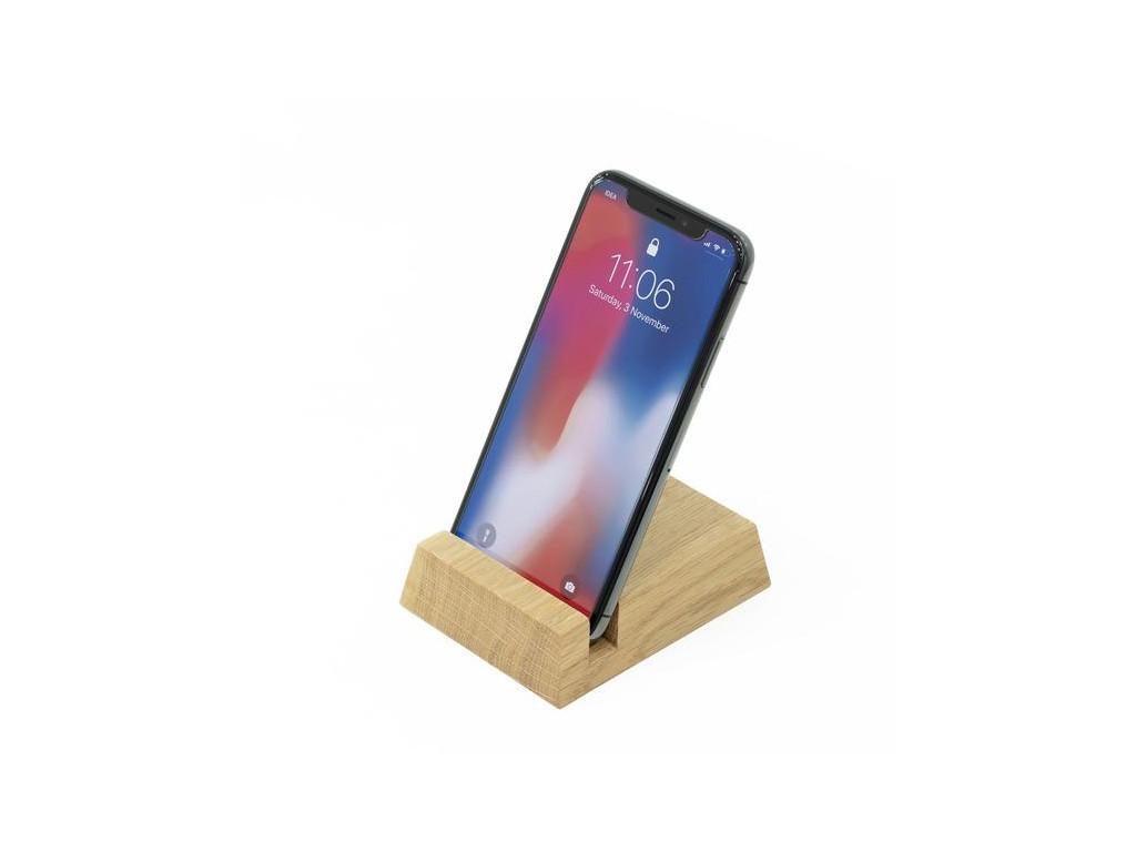 Drevený stojan na mobil