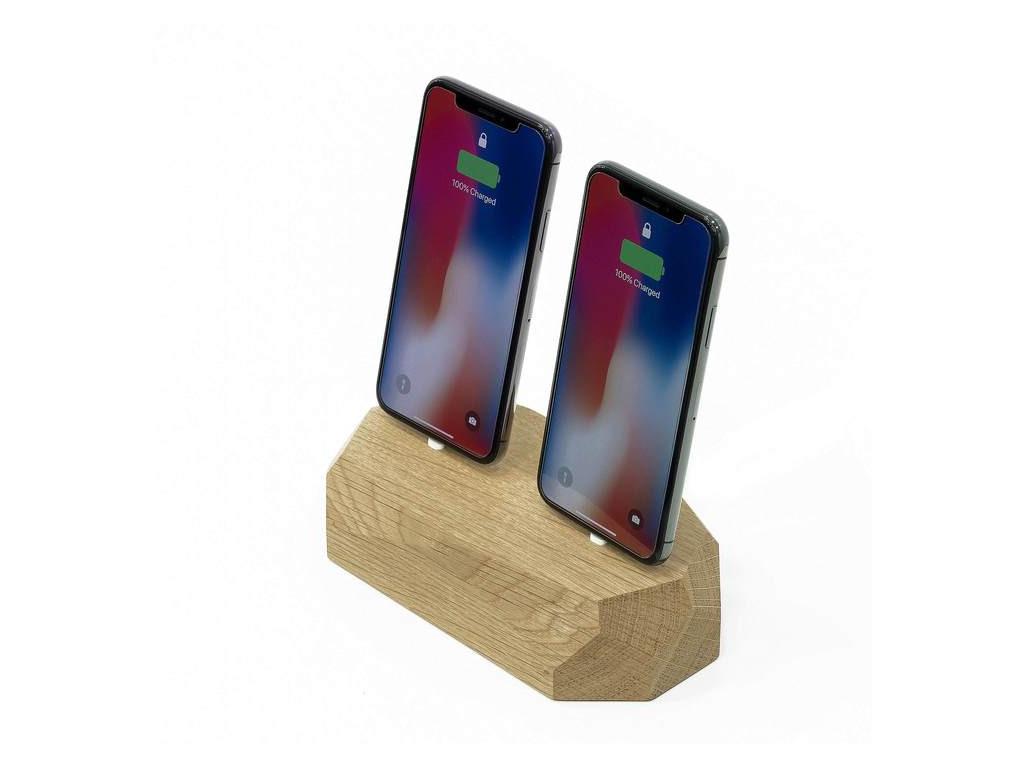 Drevená nabíjačka na iPhone (dual port)