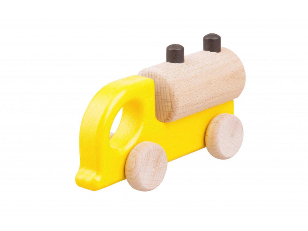 Drevené autíčko - cisterna (farebná)