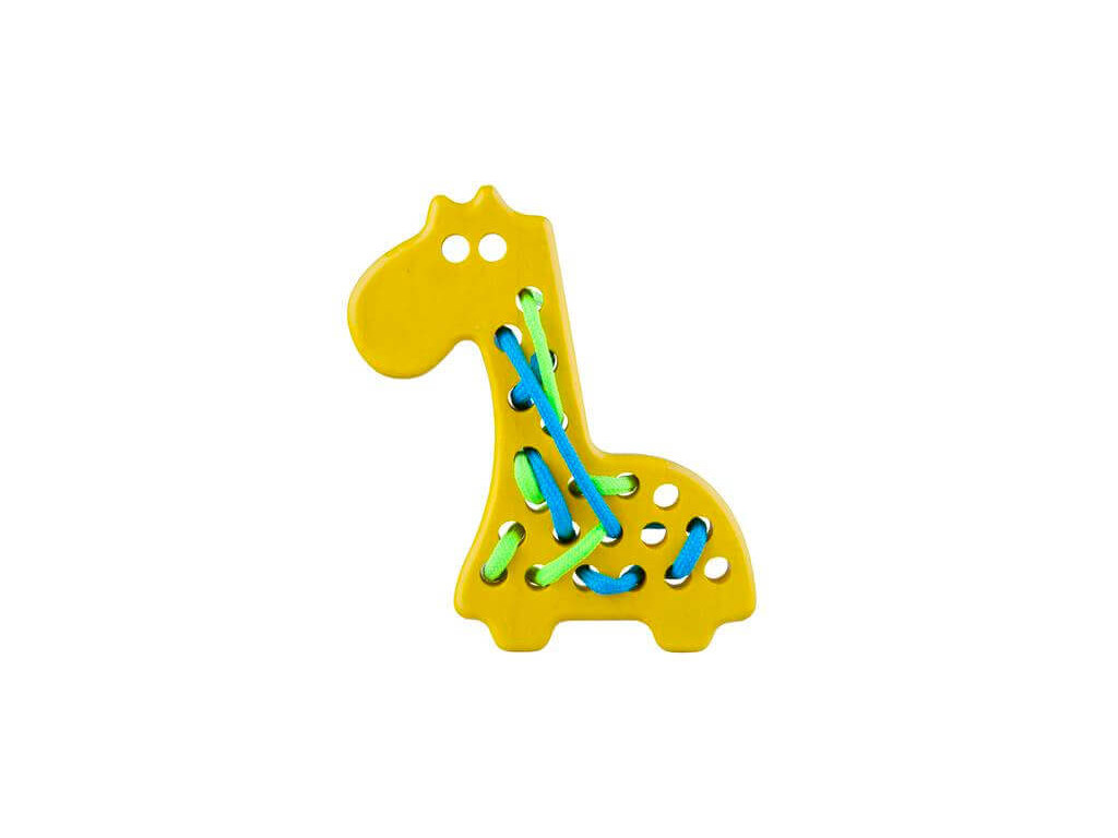 Drevená žirafa - šnurovacia