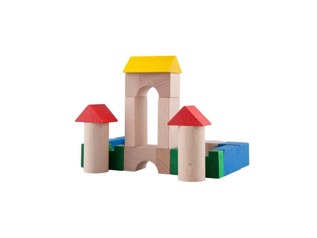 Drevené kocky 3 cm - farebné (100 ks)