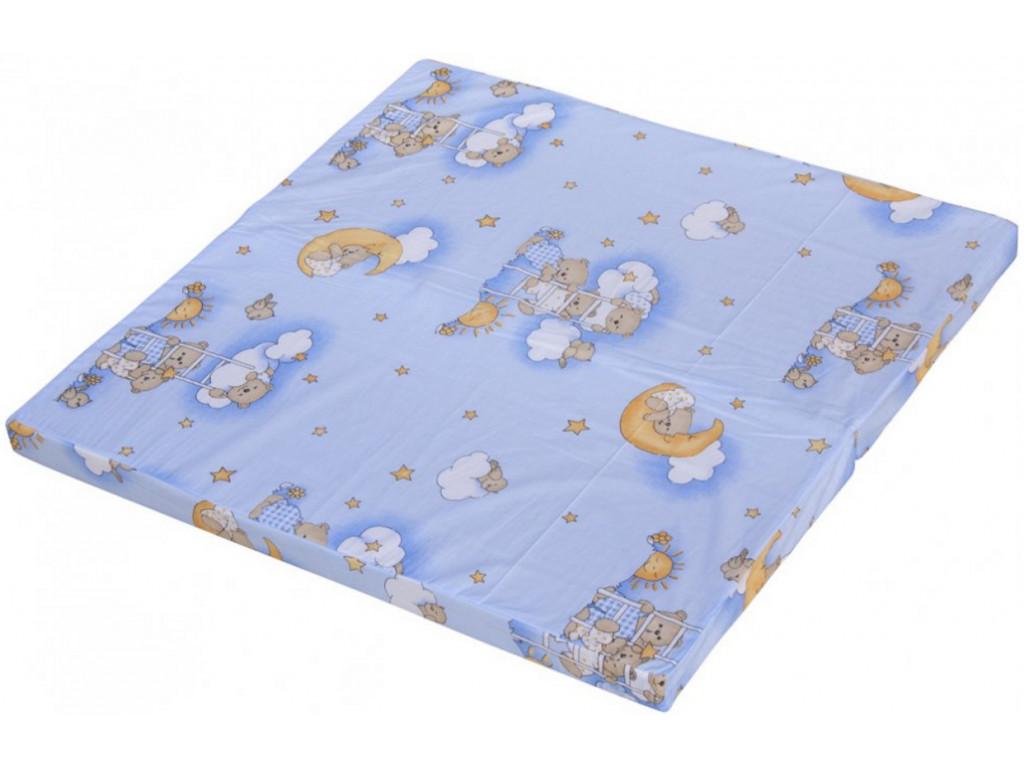 Matrac do ohrádky pre deti Belli - modrá, 100 x 100 cm