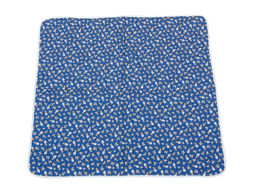 Podložka na hranie pre deti PINO - modrá, 146 x 146 cm