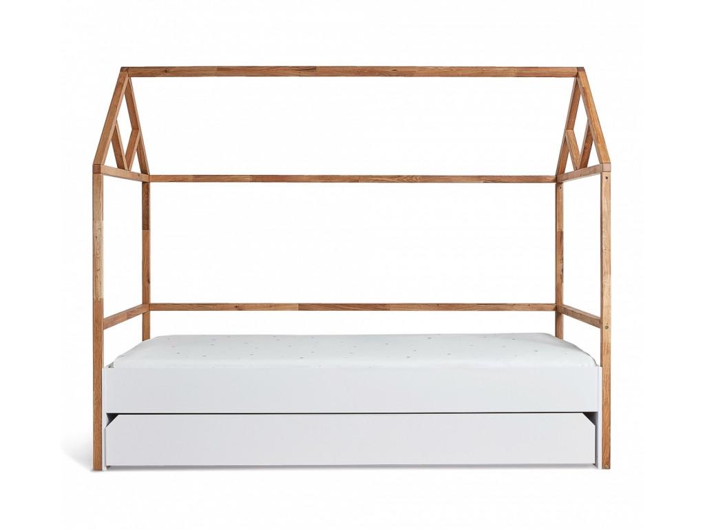 postel domcek biela 1