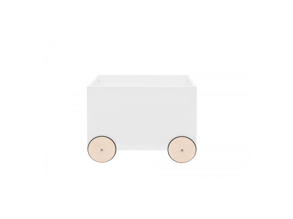 truhlica na kolieskach biela 1