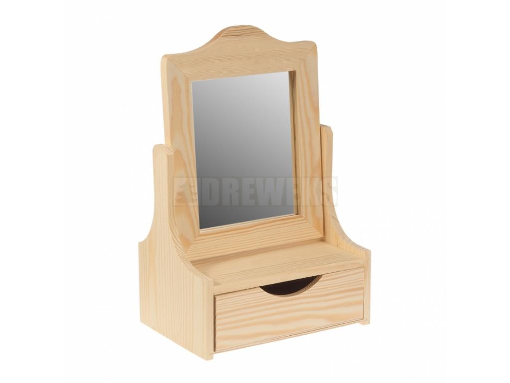 toaletka z lustrem i szuflada