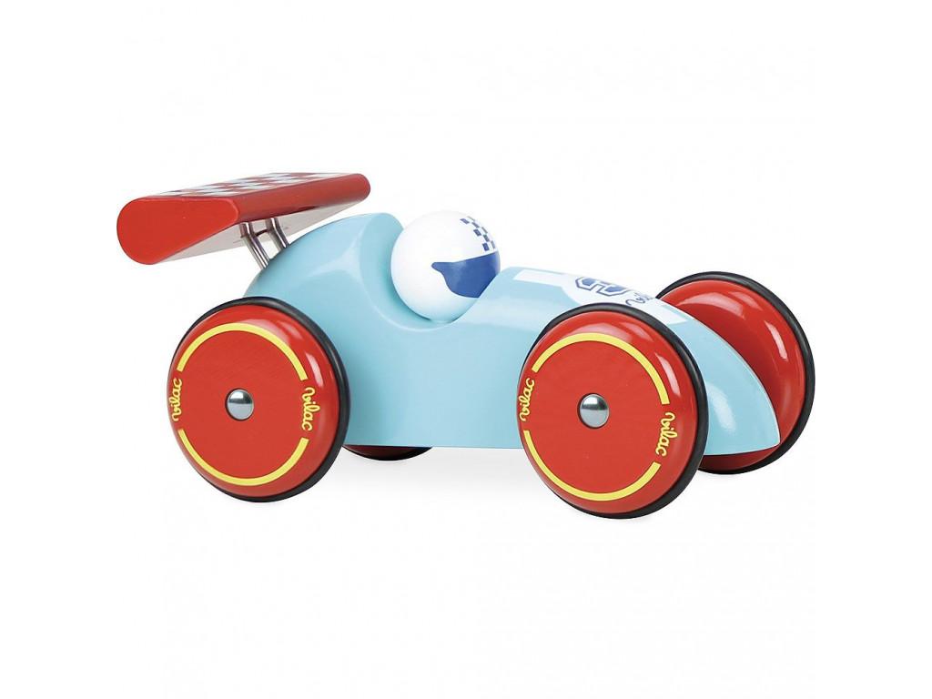 Závodné auto s červeným krídlom1