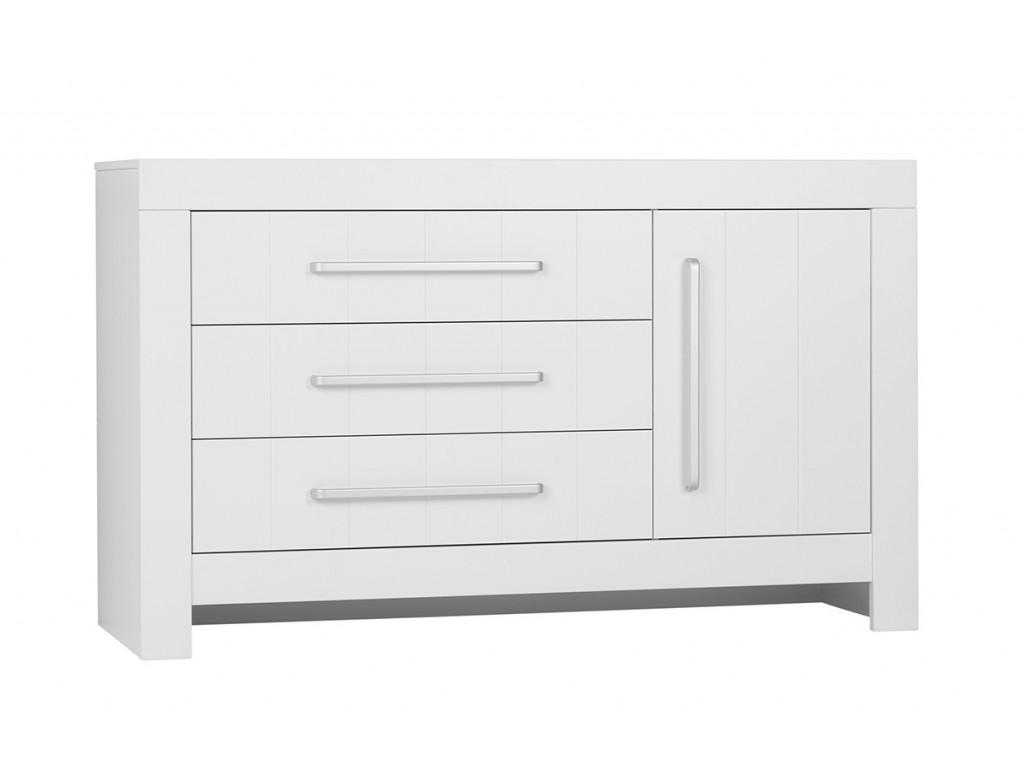 Calmo 3drawer1door chest white 1
