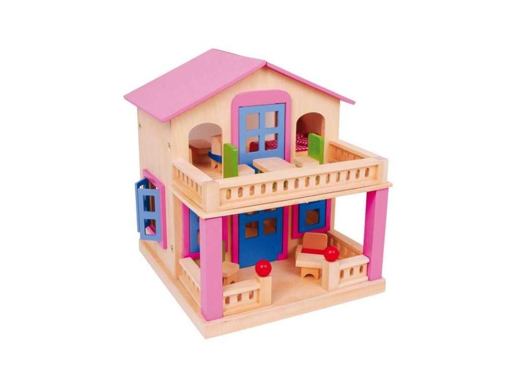 Ruzovy domcek pre babiky s terasou Clara