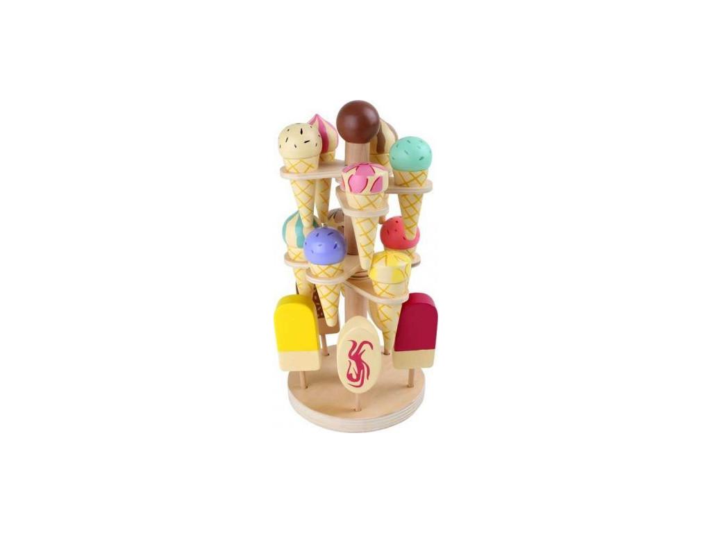 Dreveny zmrzlinovy podstavec