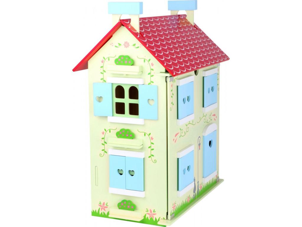 Dreveny domcek pre babiky s odnimatelnou strechou
