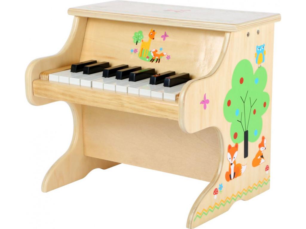 Dreveny klavir prirodny s liskou