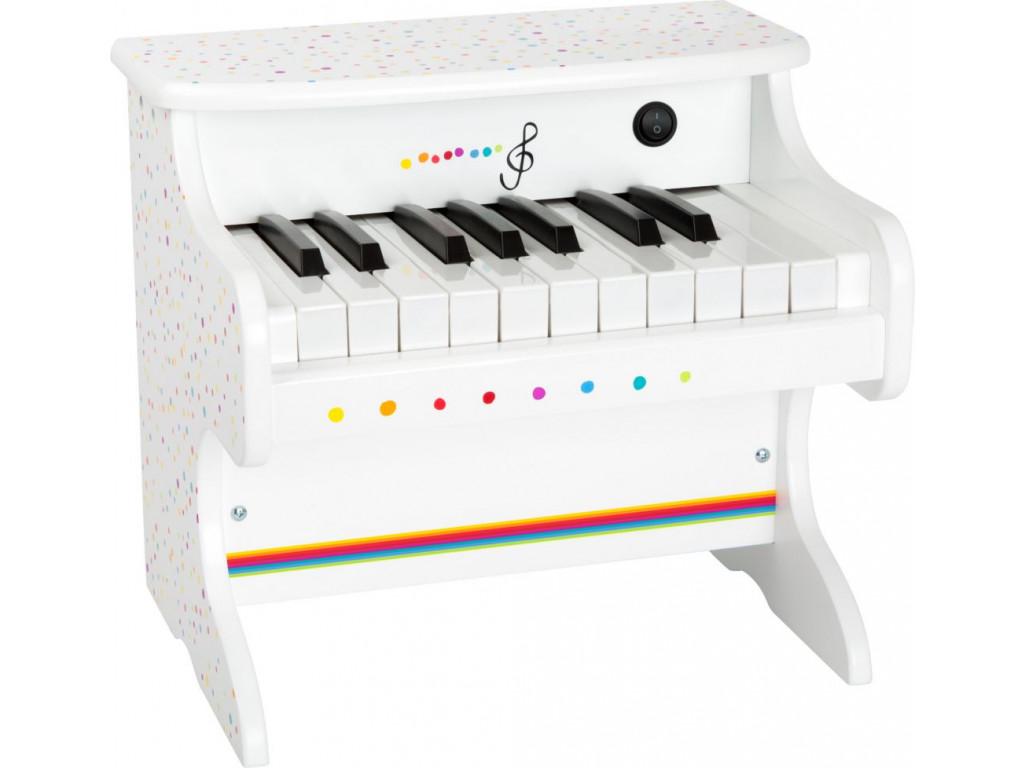 Klavir biely s bodkami Sound