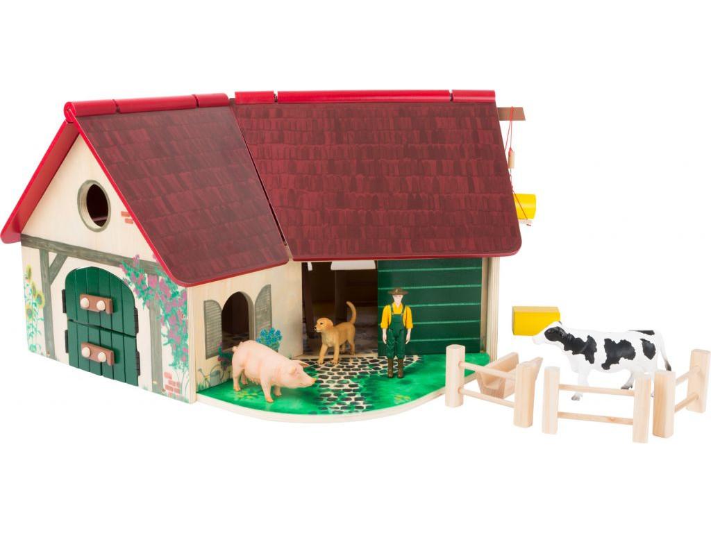 Drevena farma so zvieratkami