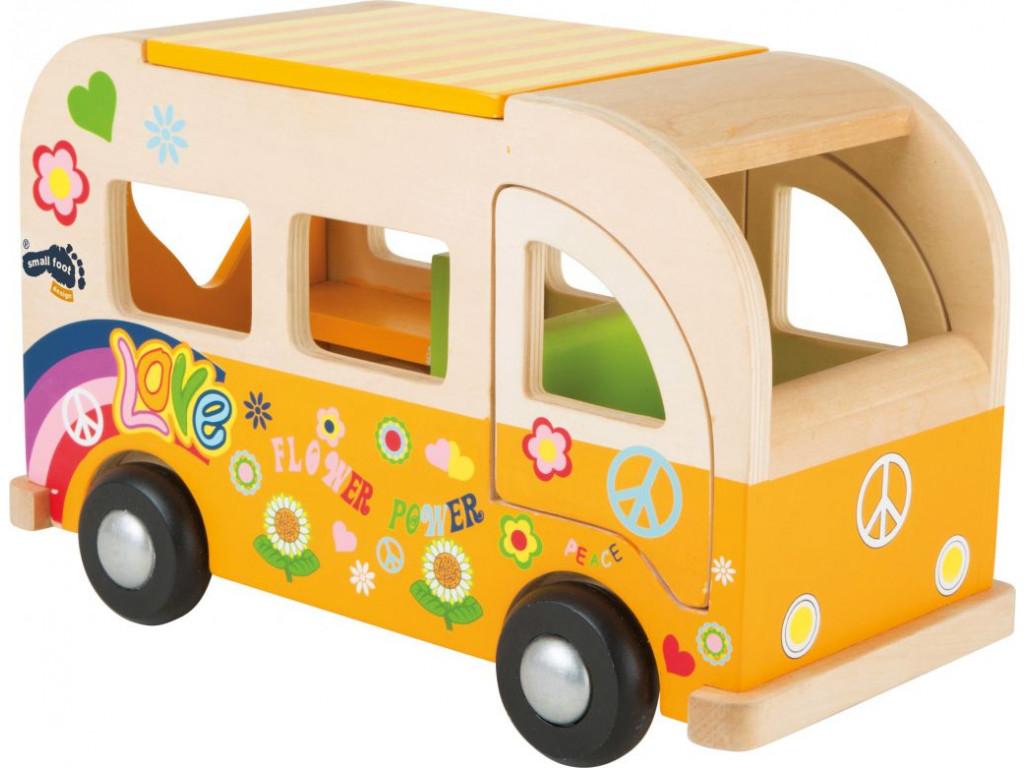 Dreveny Hippie Van