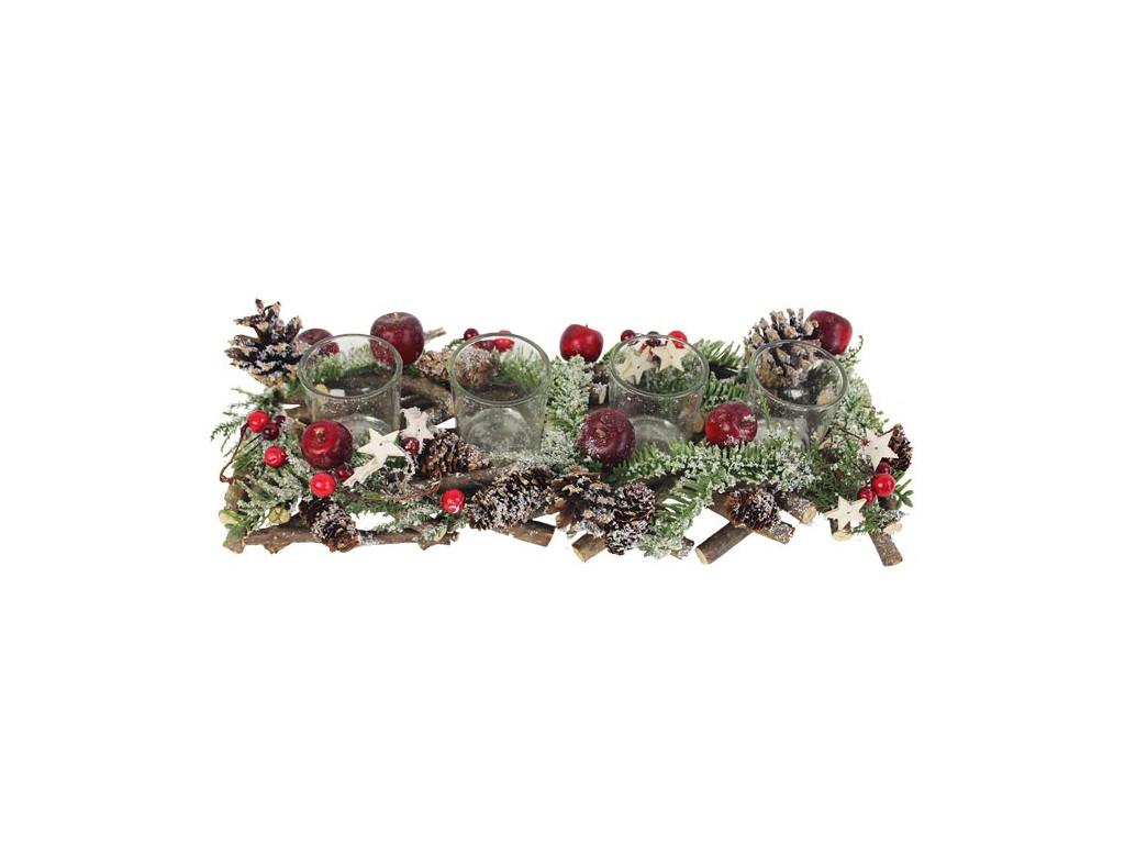 Vianočný svietnik na advent - 4 sviečky