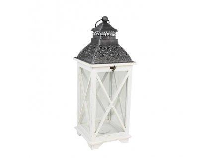 Biely lampáš z dreva - stredne veľký
