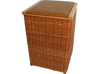 Vysoký kôš na prádlo a lavička v jednom