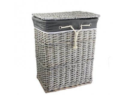 Prútený kôš na prádlo s viazaním