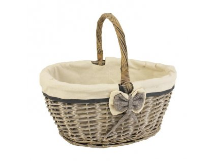 Elegantný piknikový košík s mašľou
