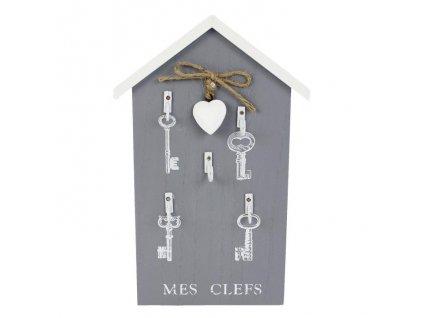 Vešiak na kľúče MES CLEFS so srdcom