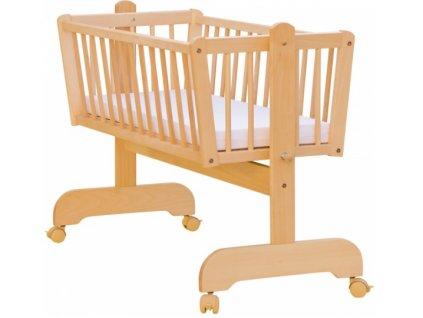 Kolíska z bukového dreva pre dieťa - 90 x 41 cm