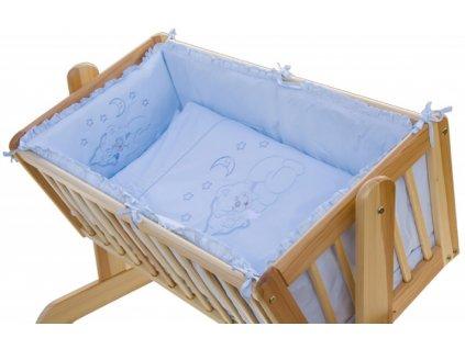 Modrá súprava do kolísky pre bábätká